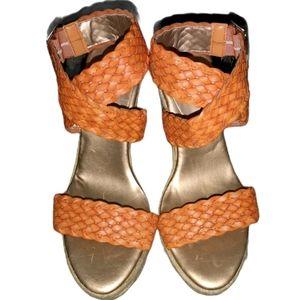 BCBGeneration Wedge Espadrille Braid Strap Sandals